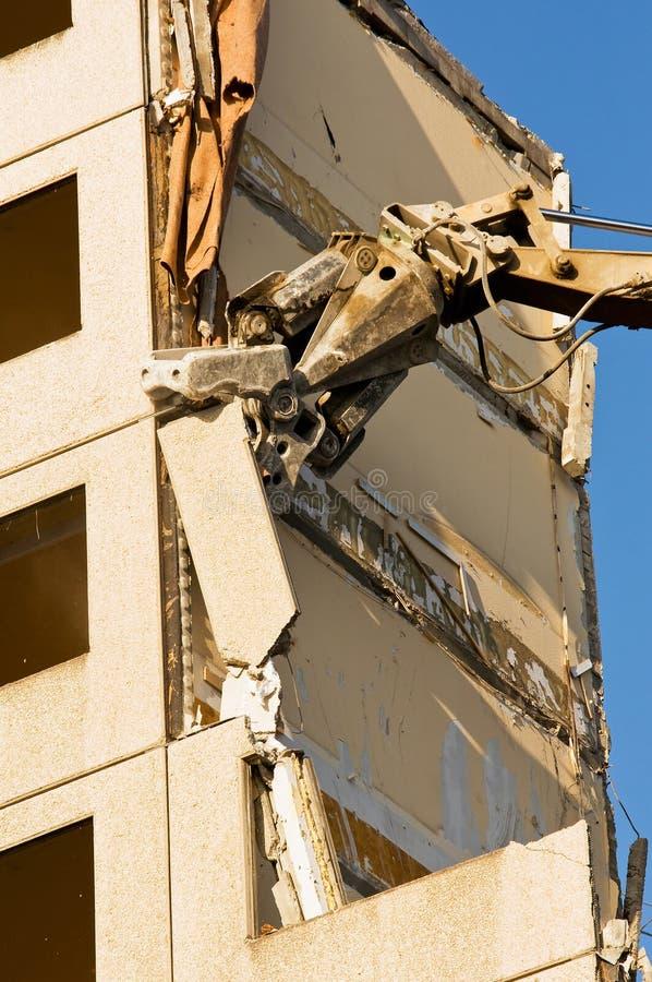 Démolition d'une vieille construction photo libre de droits