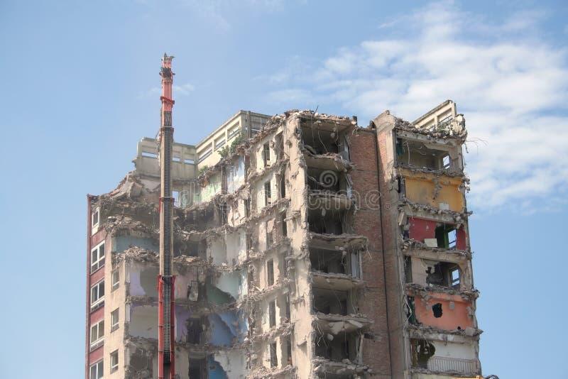 Démolition des appartements photos libres de droits