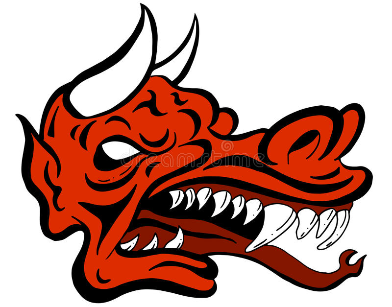 Démon Dragon Face Creature illustration libre de droits