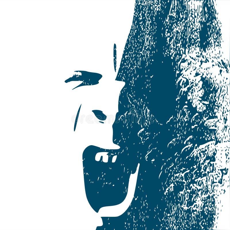 Démon ou monstre criant illustration stock