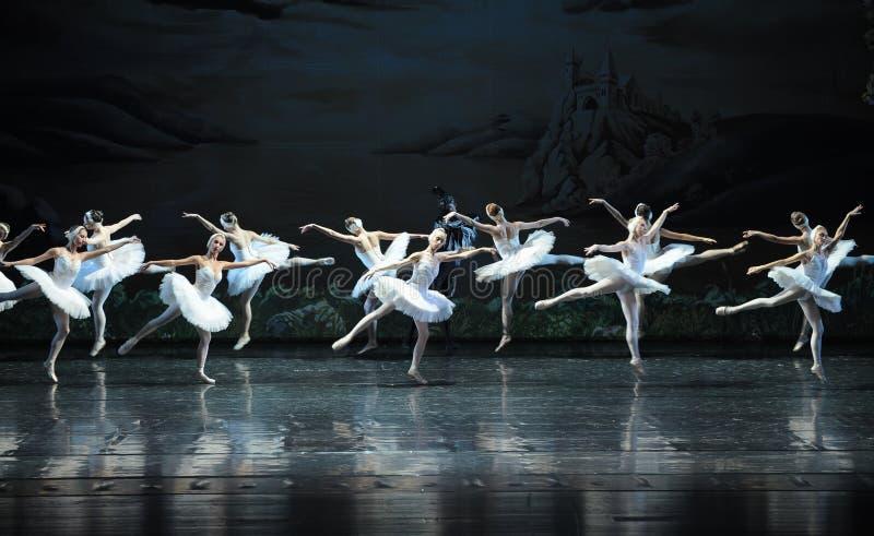 Démons cachés dans le lac swan de Groupe-ballet de cygne images libres de droits