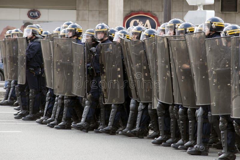 Démonstration à Paris contre l'éducation politique - 4 avril 200 photo stock