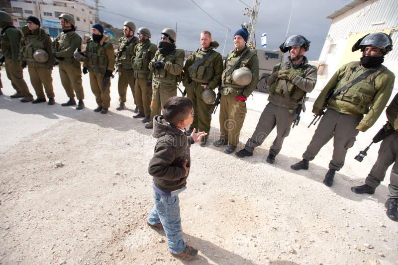 Démonstration d'Anti-Mur de la Cisjordanie photos libres de droits
