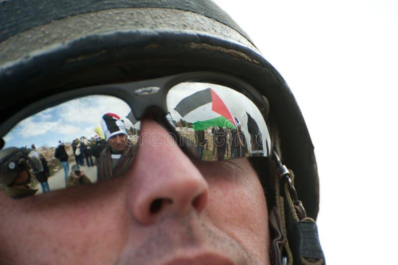 Démonstration d'Anti-Mur de la Cisjordanie photo libre de droits