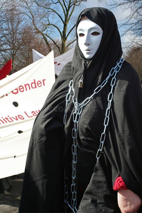 Démonstration pour des droits de femme image libre de droits