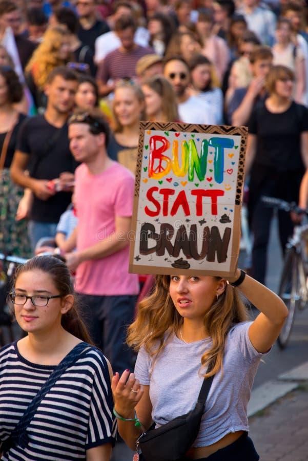 démonstration #unteilbar à Berlin, Allemagne image libre de droits
