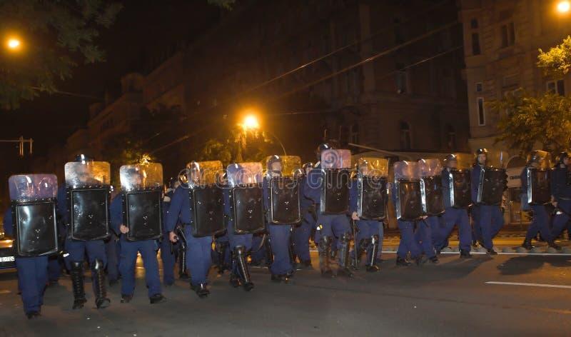 Démonstrations politiques en Hongrie 2006 photo libre de droits
