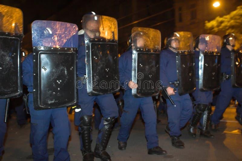 Démonstrations politiques en Hongrie 2006 photo stock