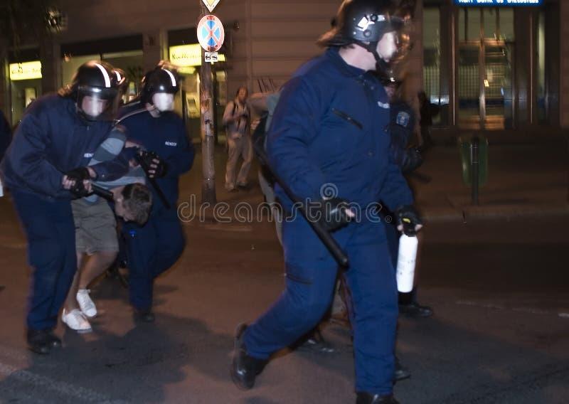 Démonstrations politiques en Hongrie 2006 images stock