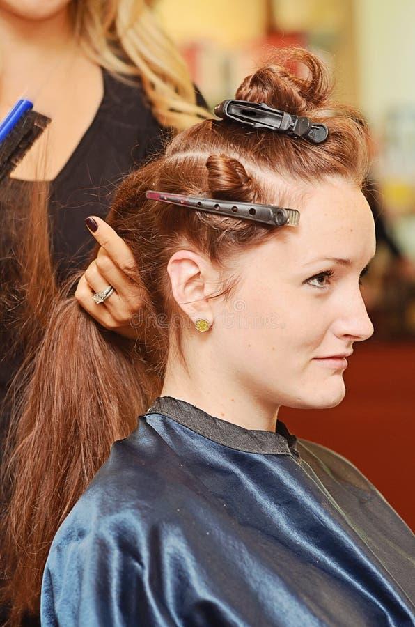 Dénommer de cheveux de femme image libre de droits