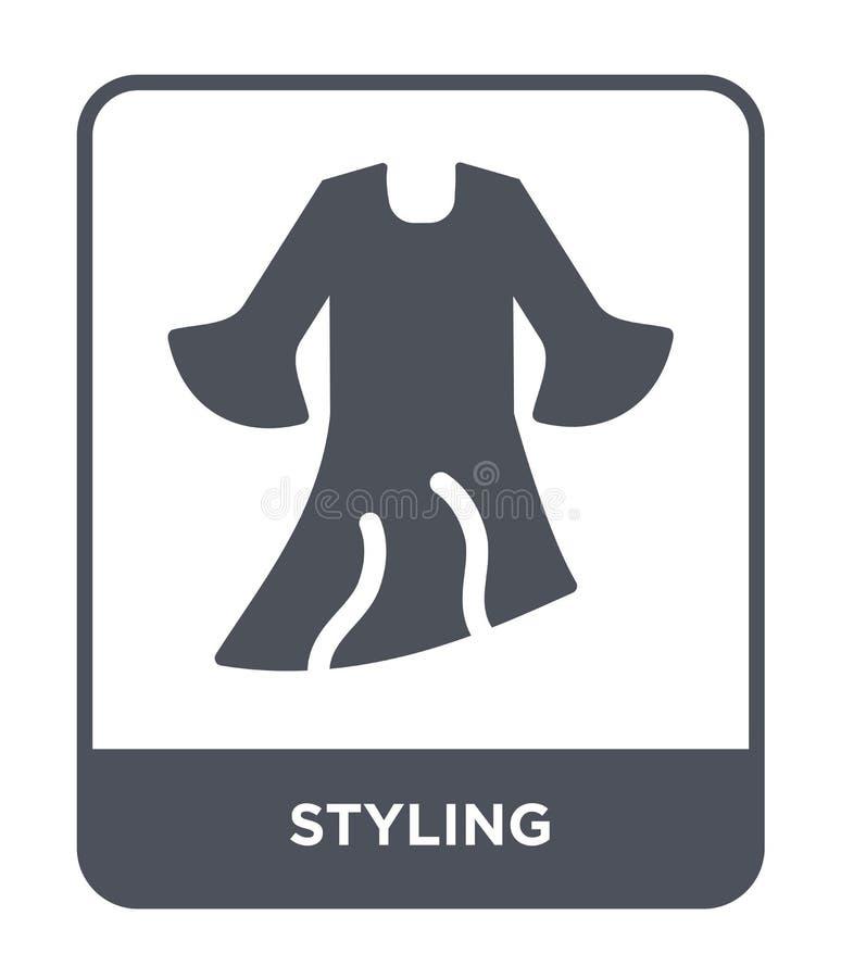dénommer l'icône dans le style à la mode de conception dénommant l'icône d'isolement sur le fond blanc dénommant le symbole plat  illustration libre de droits