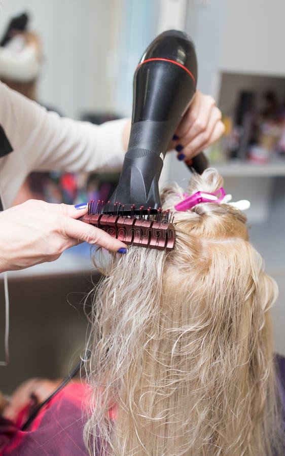 Dénommer le sèche-cheveux femelle photo libre de droits