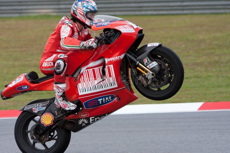 Dénoyauteur de Casey prenant la victoire de chemin chez le MotoGP 200 photo libre de droits