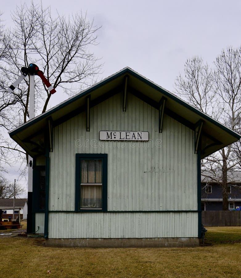 Dépôt de chemin de fer de McLean image libre de droits