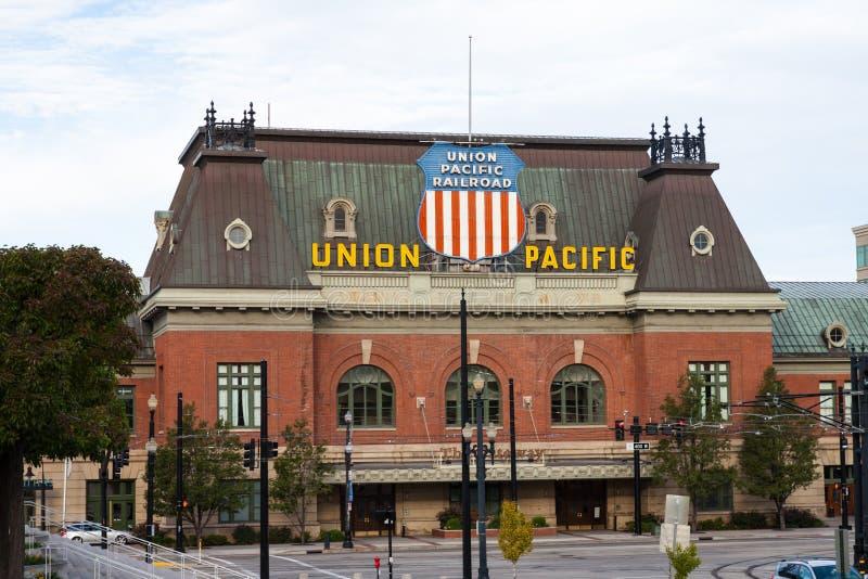 Dépôt de Pacifique des syndicats de Salt Lake City photographie stock libre de droits