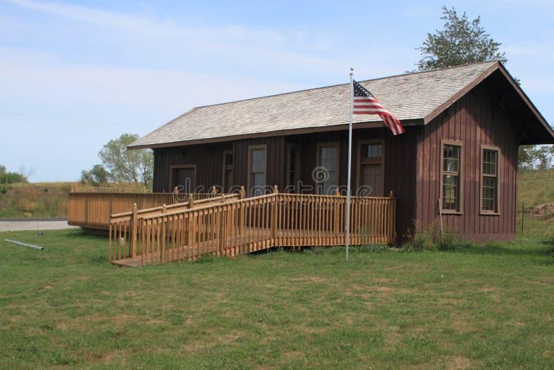 Dép40t de train d'ère de guerre pré civile, Colfax, Iowa photo libre de droits