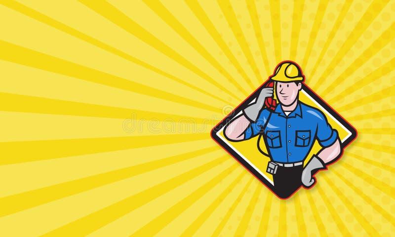 Dépanneur Lineman Worker Phone de téléphone illustration de vecteur