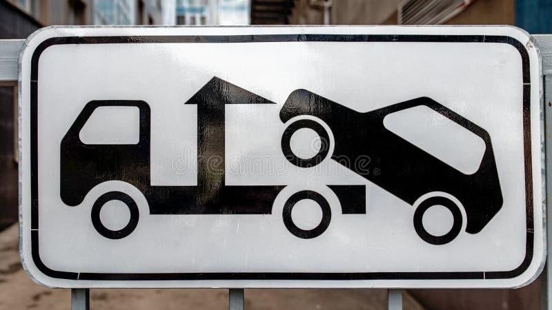 Dépanneuse de panneau routier photo libre de droits