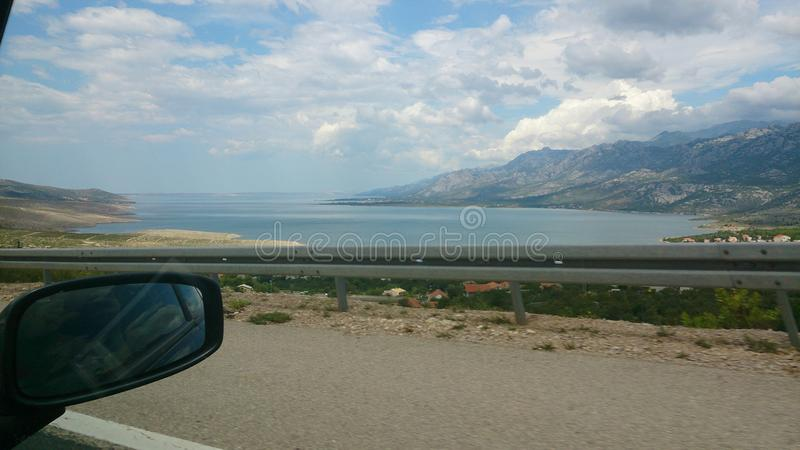 Départ de l'île Brac de la Croatie de wonderfull images stock