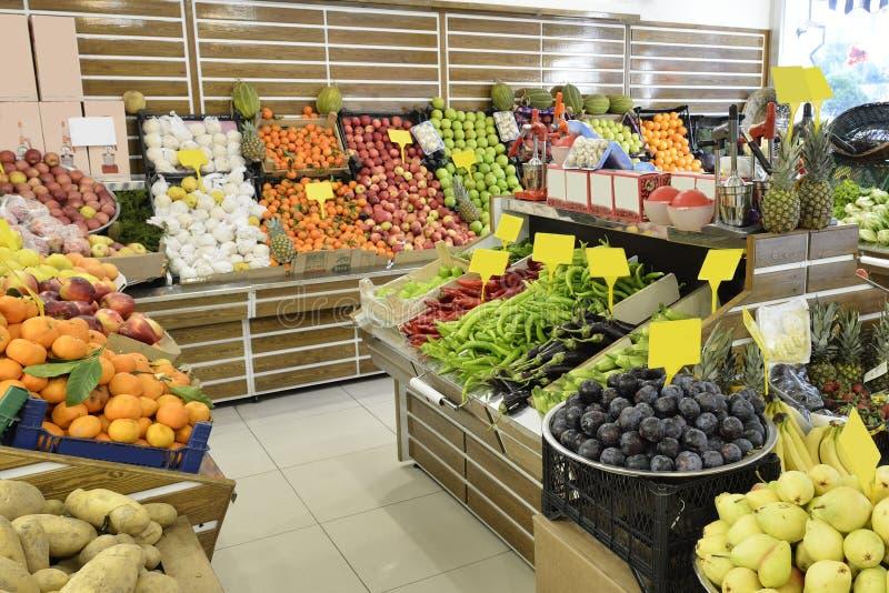 Département de nourriture dans le supermarché image libre de droits
