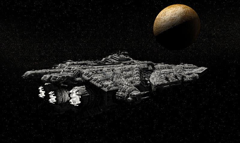 dépassement de mercure de croiseur cuirassé illustration stock