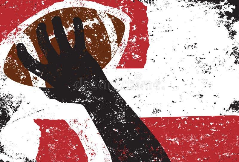 Dépassement du fond du football illustration libre de droits