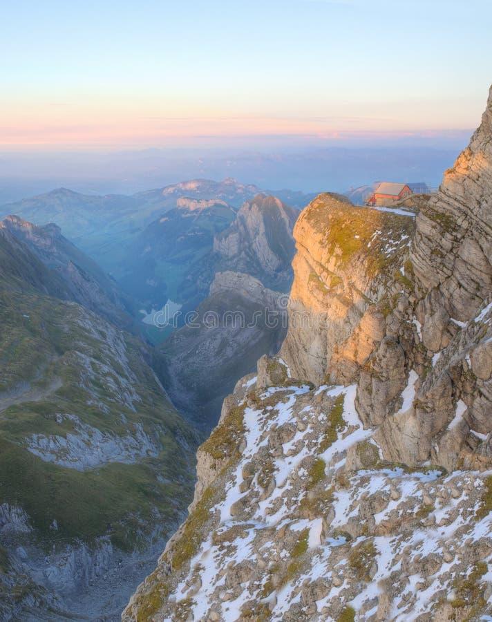 Dépendance à la montagne Saentis, Suisse photos stock