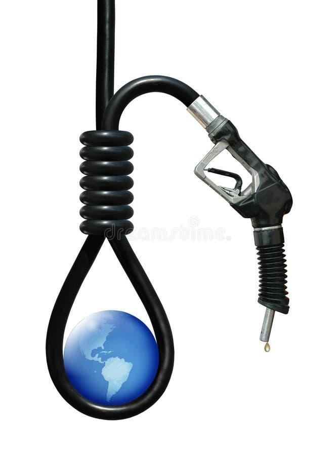 Dépendance sur le pétrole illustration de vecteur