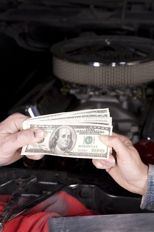 Dépense de véhicule d'argent images stock