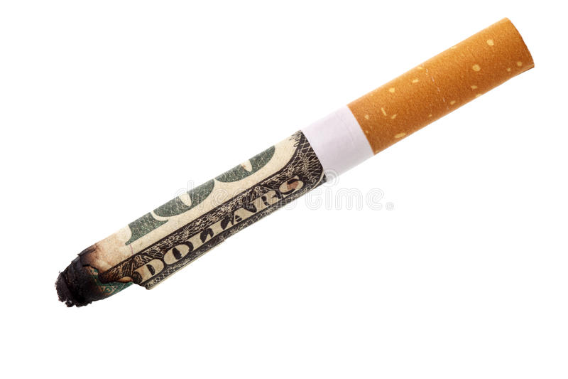 Dépense pour le fumage photo libre de droits