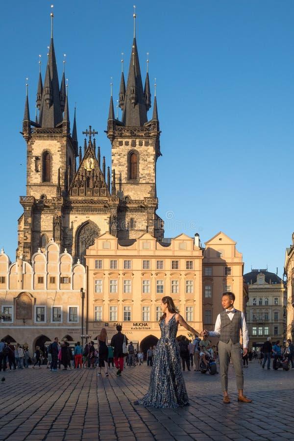 Déplacement à Prague photos libres de droits