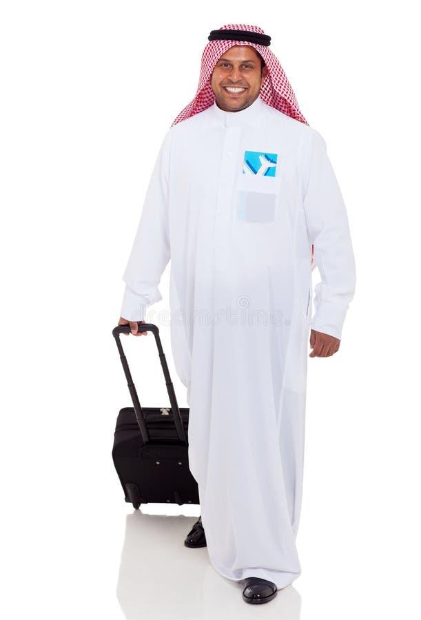Déplacement arabe d'homme d'affaires photos stock