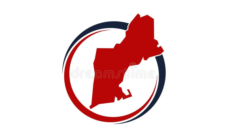 Déplacement de la Nouvelle Angleterre illustration libre de droits