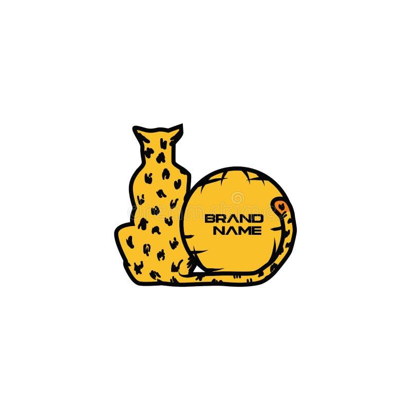 Déplacement de tigre de logo photos libres de droits