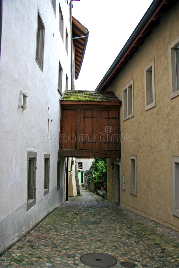 Déplacement entre les bâtiments photo libre de droits