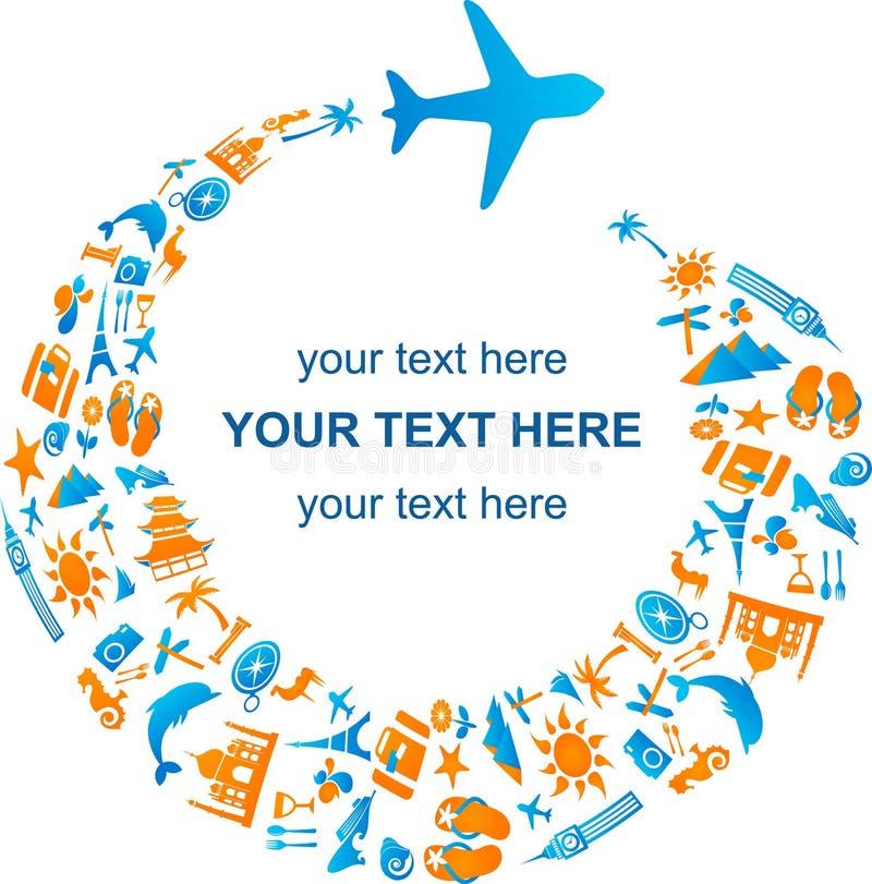 Déplacement par avion illustration libre de droits