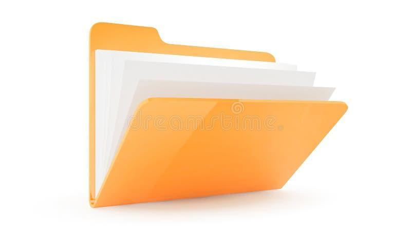 Dépliant avec des fichiers illustration stock