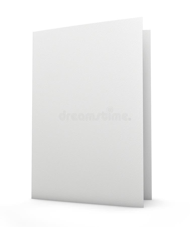 Dépliant blanc images stock