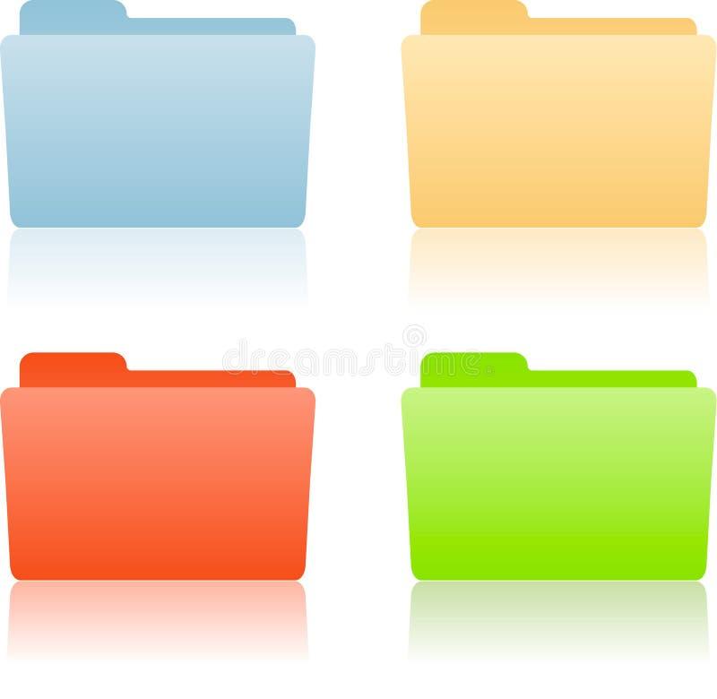 Dépliant de fichier avec la place pour l'étiquette illustration de vecteur