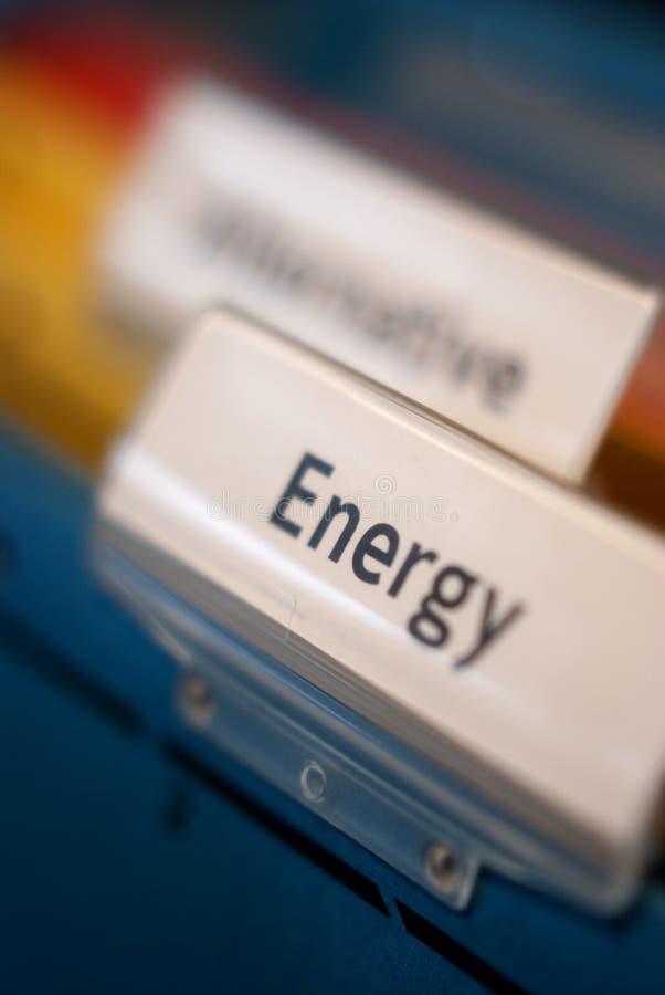 Dépliant de fichier d'énergie photos stock
