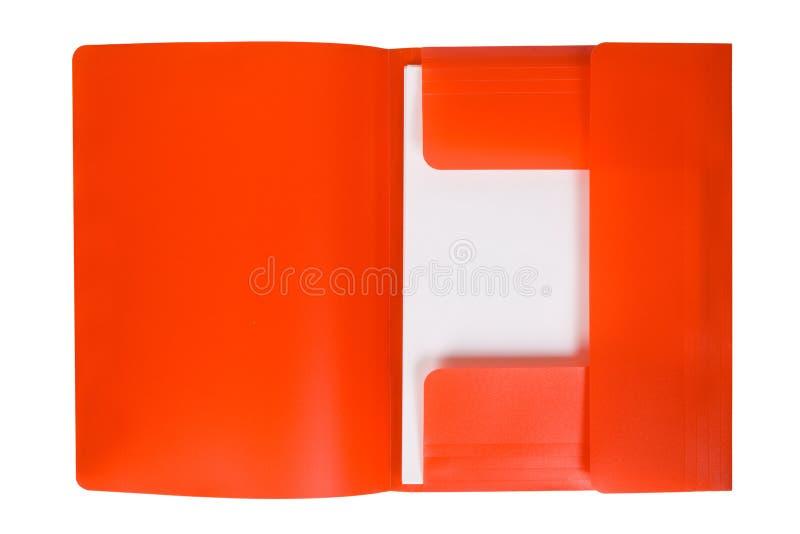 Dépliant rouge avec le papier photo libre de droits