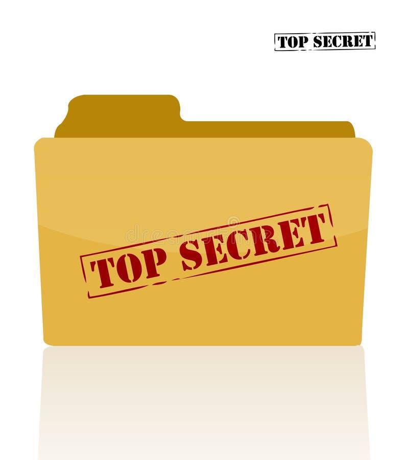 Dépliant secret de document illustration stock
