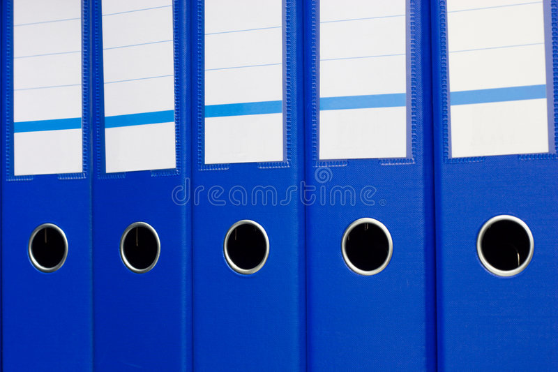 Dépliants de fichier bleus images libres de droits