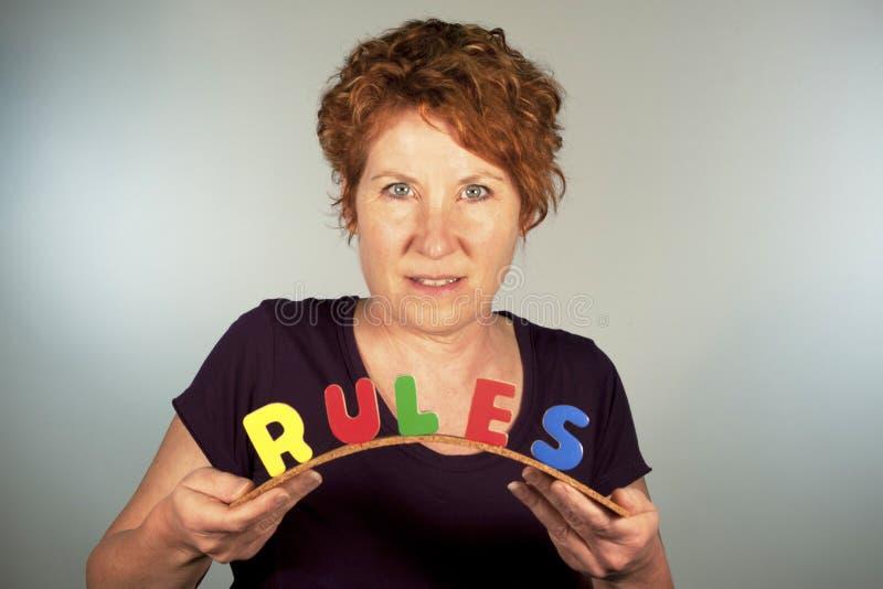Dépliez les règles photo stock