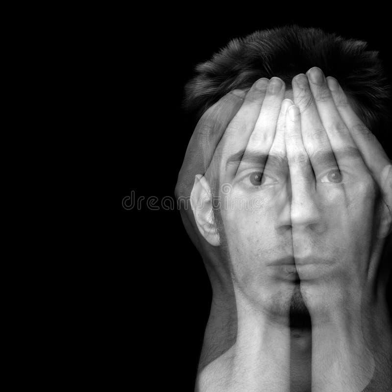 Dépression et crainte images stock
