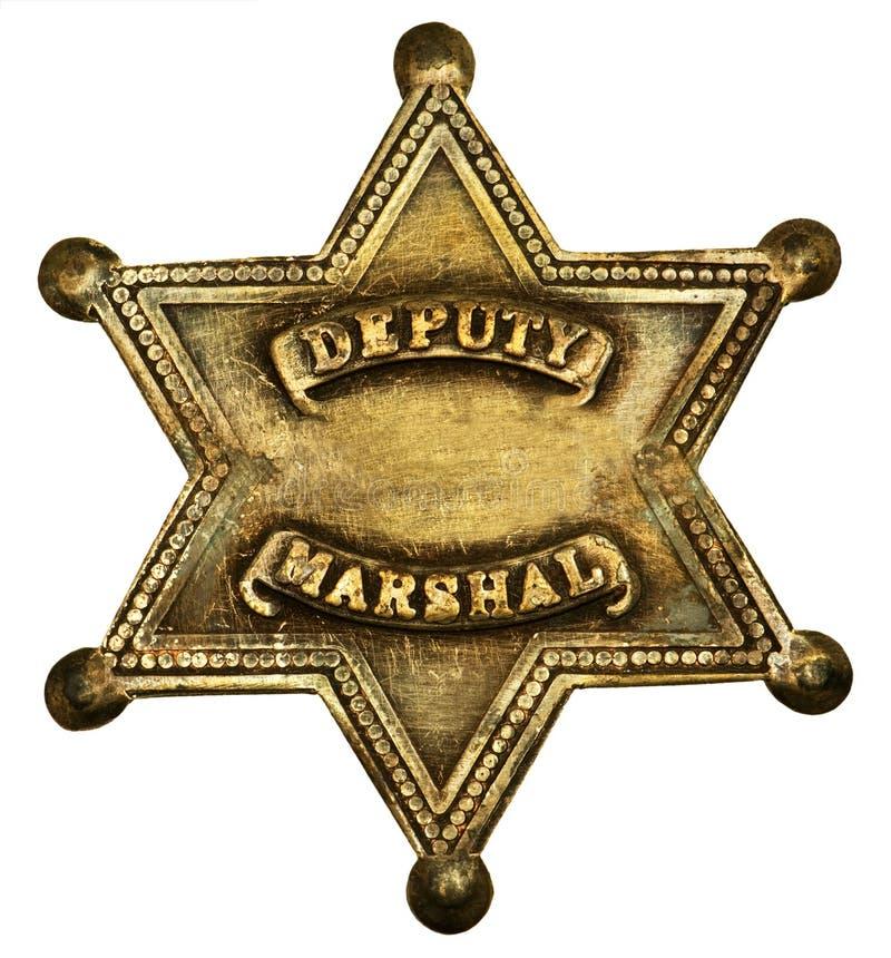Député authentique Marshall Badge photos libres de droits