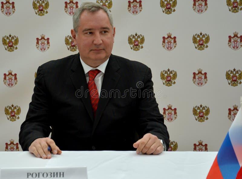 Député Prime Minister de la Russie, Dmitry Rogozin photo stock
