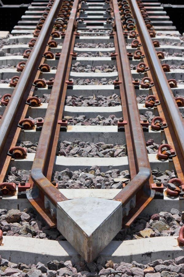 Déraillement protecteur du train. image libre de droits