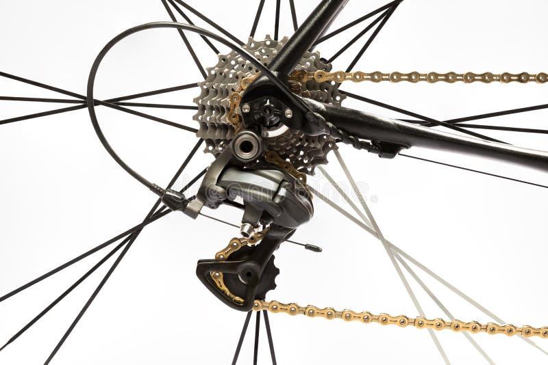 Dérailleur d'arrière de vélo de route photos stock