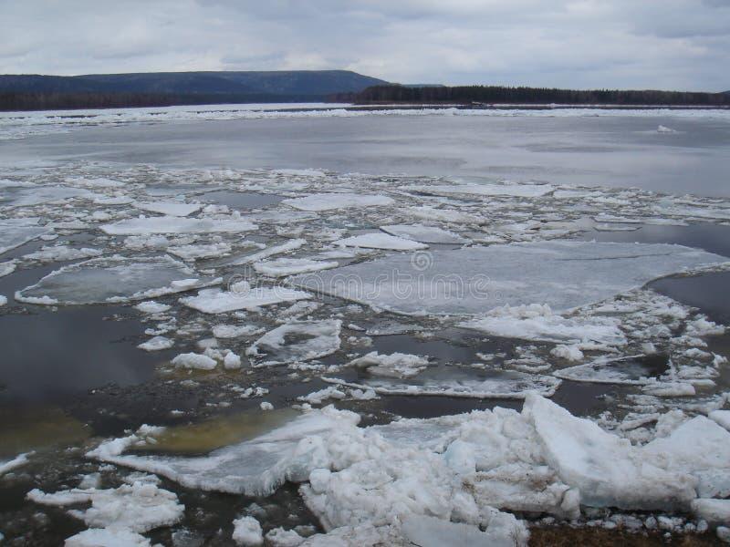 Dérive de glace photographie stock